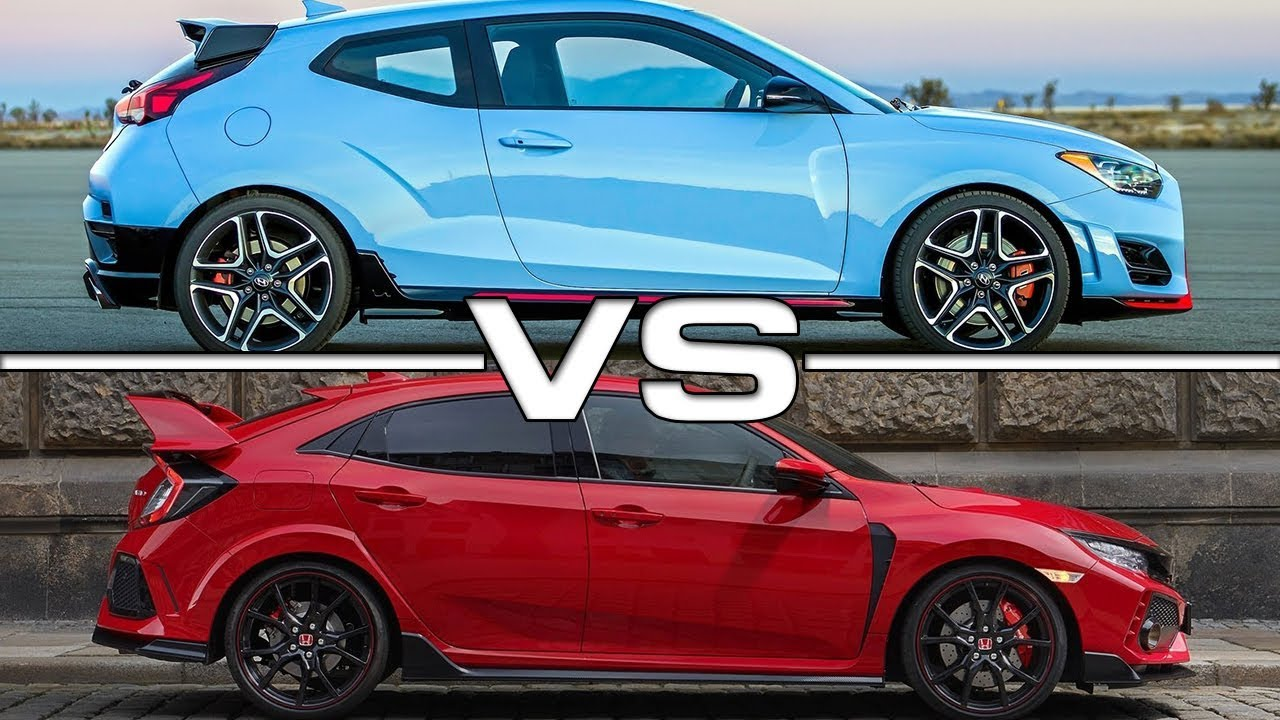 2019 Hyundai Veloster N Vs 2018 Honda Civic Type R Youtube