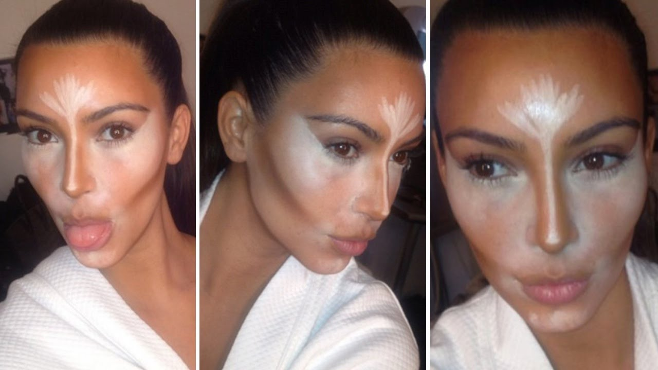 Kim Kardashian Contour & Highlight 2014 Makeup Tutorial - YouTube