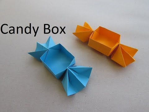 Candy Box Origami | How to make paper craft | Easy & Simple --Cindy DIY