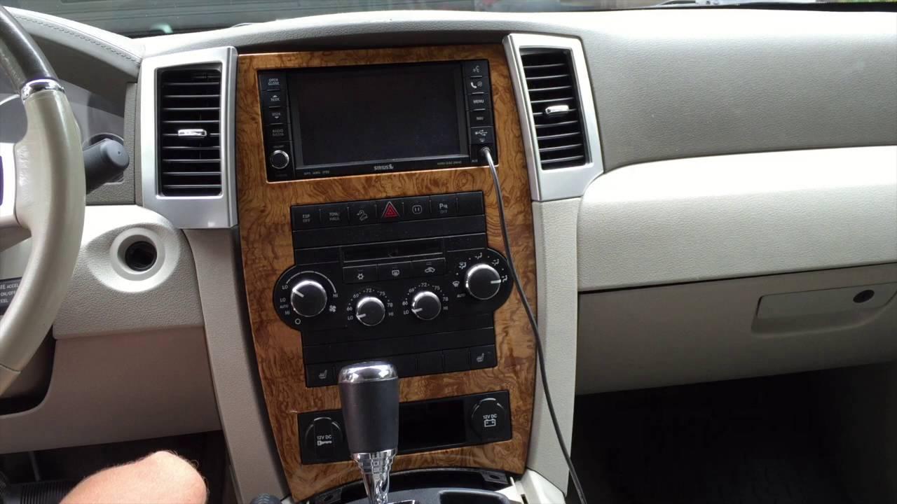 2009 Jeep Grand Cherokee Dash Head Unit Removal