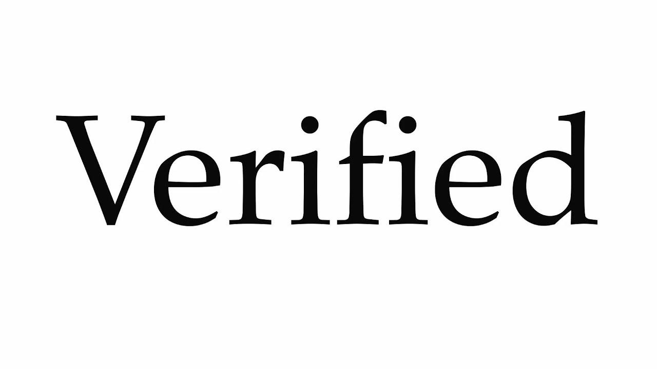 How to Pronounce Verified
