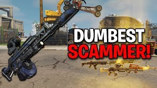 The Worlds Dumbest Scammer Ever Scams Himself! (Scammer Gets Scammed) Fortnite Save The World