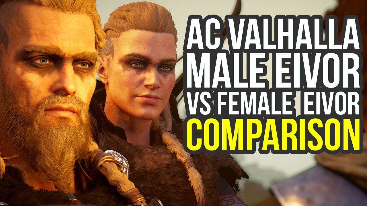 Assassin S Creed Valhalla Gameplay Male Eivor Vs Female Eivor