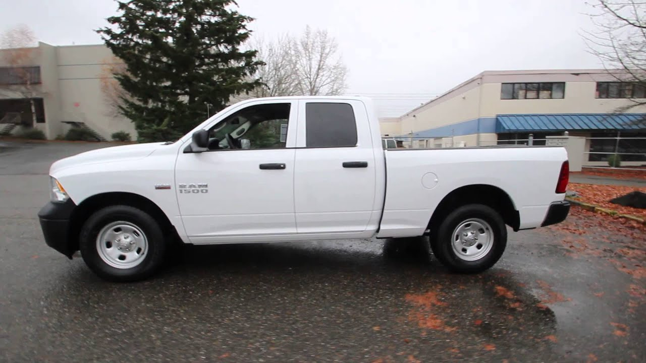 2015 Dodge Ram 1500 Tradesman Quad Cab White Fs535549