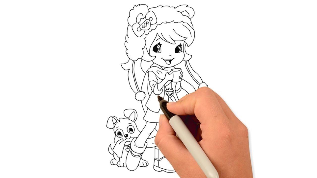 How To Draw A Cute Girl Art Drawing Tutorial Draw For Kids