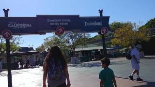 Walking from The Anaheim Hotel to Disney