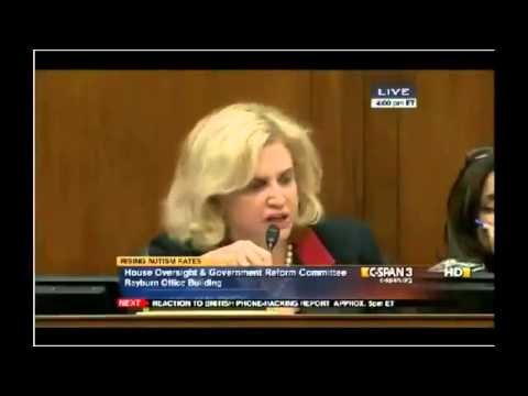 Vaccine Linked Autism Congressional Hearing, Carolyn Maloney D-NY and Colleen Boyle, CDC