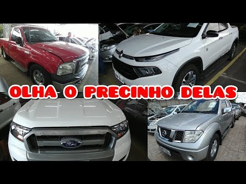 LEILÃO com RANGER FORD F250 FIAT TORO NISSAN FRONTIE L200