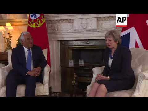 UK PM May meets Portugal's Costa at Number 10
