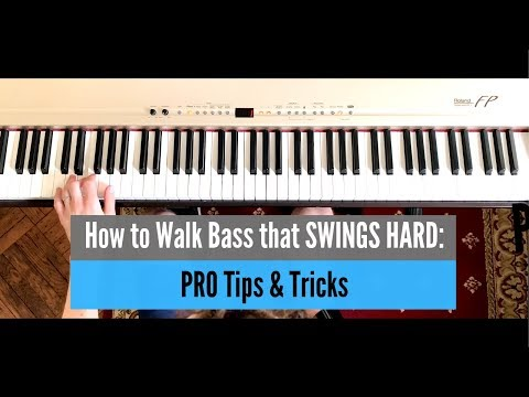 How to Play a Walking Bass Line Like a PRO - Tips, Tricks and Embellishments