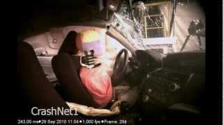 Honda Accord   2012   Pole Crash Test   NHTSA High Speed Camera   CrashNet1