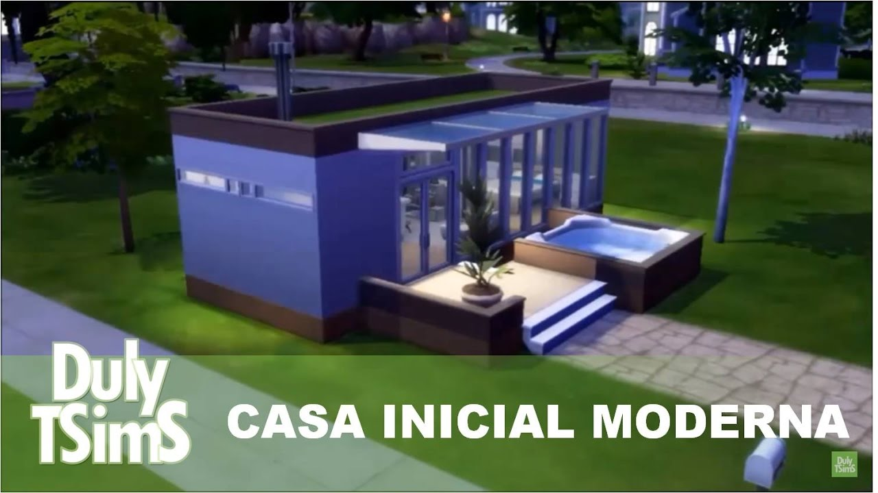 Casa inicial moderna the sims 4 youtube for Sims 4 modelli di casa moderna