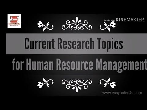 Current Research Topics In HRM