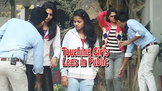 Touching Girls Legs in Public Prank - Prank in ...