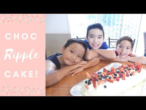 3 Ingredient Chocolate Ripple Cake | Cooking With Kids