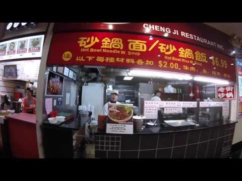 Travel Vlog - GoPro Hero 4 0 Flushing, NY - New World Mall Food Court