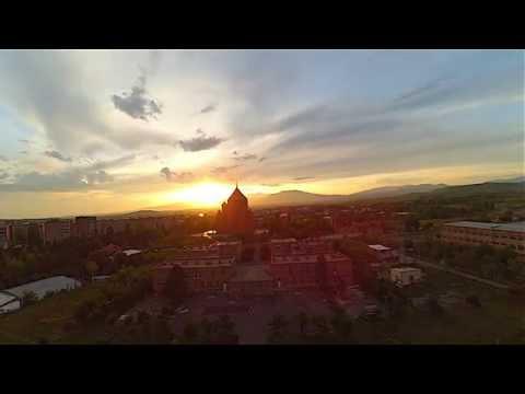 The sunset in Abovyan city/Մայրամուտն Աբովյանում