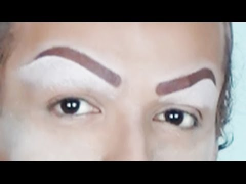 THE PERFECT DRAG QUEEN EYEBROWS IN ONE MINUTE! - YouTube