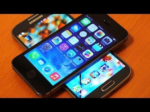 iPhone 5s vs Samsung Galaxy S4 : quick look