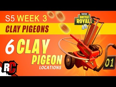 Fortnite | All CLAY PIGEON Locations WEEK 3 Challenge (Shoot Clay Pigeons At Different Locations)