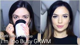 GRWM My Go-To Too Busy Makeup, Hair & Outfit | TheMakeupChair