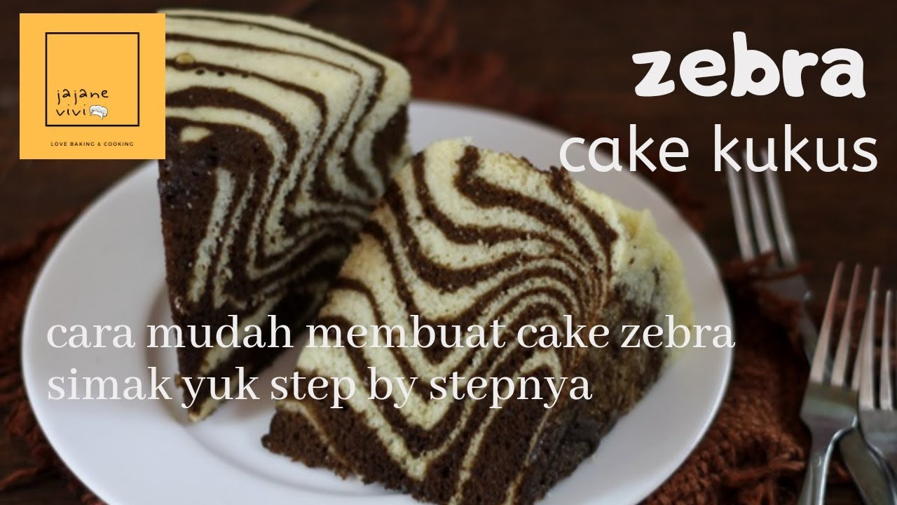 Zebra Cake Kukus Cake Kukus Lembut Dengan Motif Zebra Yang Cantik Youtube