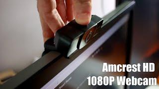Amcrest 1080p webcam setup and review
