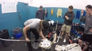 Buttendz grip Demo Day in OHL locker room