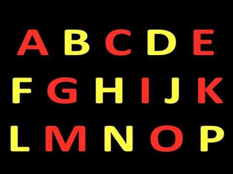 alfabeto em  inglês em forma de música