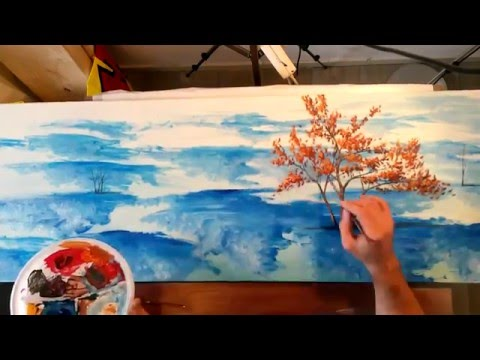 "Timelapse Painting ""Point Of View"" Surreal Landscape Acrilyc painting"