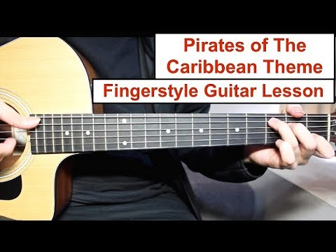 Pirates of the Caribbean Theme | Fingerstyle Guitar Lesson (Tutorial) How to play Fingerstyle