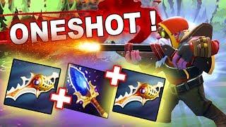 Dota 2 Sniper RAPIERS + SCEPTER OneShot!