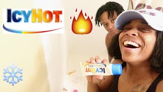 ICY HOT MASSAGE PRANK (SHE TOOK OFF ALL HER CLOTHS)!!