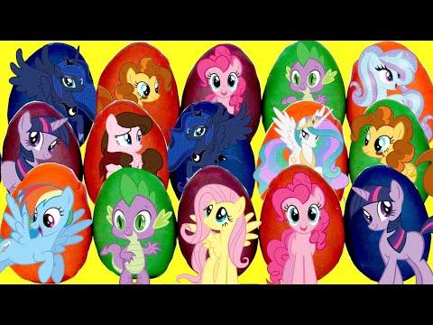 MY LITTLE PONY MLP Playdoh Egg Toy Surprises, Pinkie Pie Princess Cadence Rarity Palace Magic TUYC