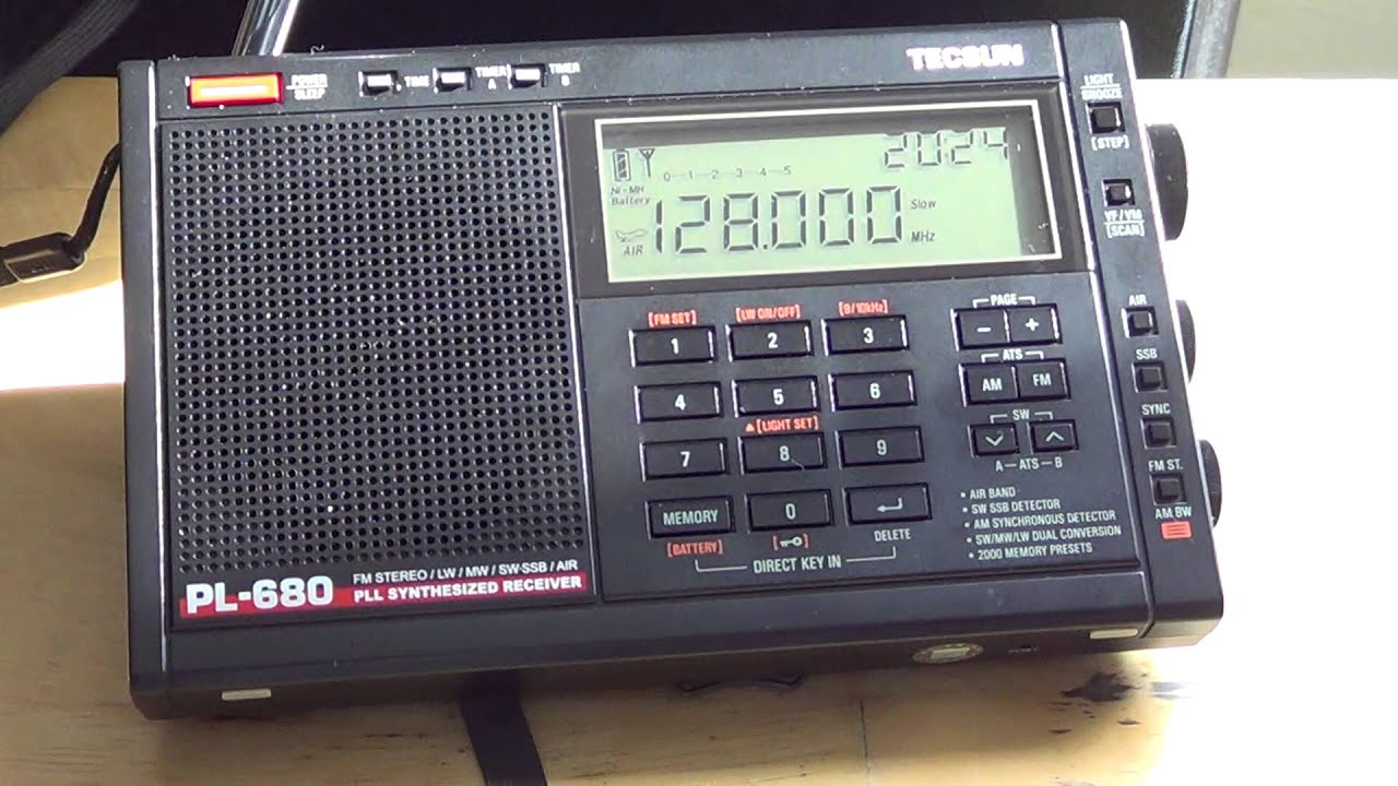 Full review of the Tecsun PL 680 Shortwave AM FM LW and Air Band Receiver  radio