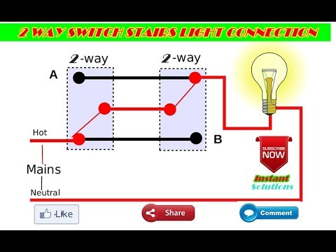 stairs light 2 way switch connection Hindi Urdu Tutorial By Umang