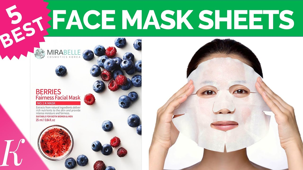 5 Best Face Mask Sheets For Glowing Skin Brightening Fairness Facial Masks Sheets Instant Glow Youtube