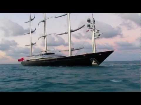 "Yacht ""MALTESE FALCON"" Arrives Virgin Gorda, Jan 1st 2013"