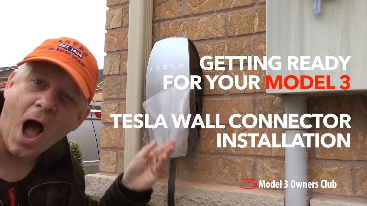 tesla wall connector install model 3 owners club youtube. Black Bedroom Furniture Sets. Home Design Ideas