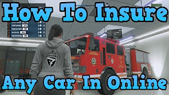 """""""GTA 5 Online"""" How To Insure ANY Car In GTA Online ( Permanently Keep Any Car )"""
