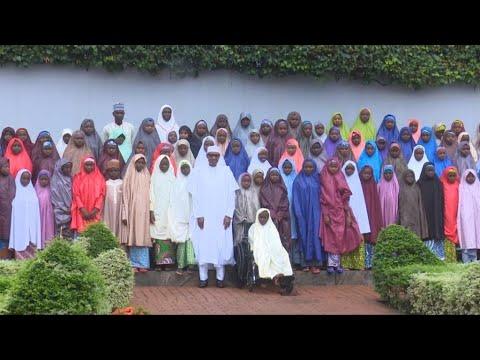 Nigeria's President Buhari meets with released Dapchi girls