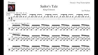 [PDT] King Crimson - Sailor's Tale Drum Transcription Sheet (Preview)