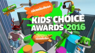 Roblox Kids Choice Awards 2016:Finding the Nickelodeon Slime Headphones, Slime Blaster, and Blimp!