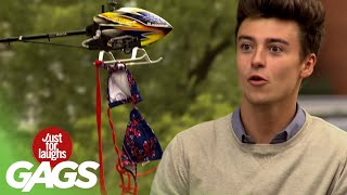 Remote-Controlled Helicopter Pulls Off The Bikini Top