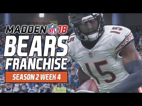 Madden NFL 18 - Bears Franchise Ep. 29 - Week 4 at Lions [Season 2]