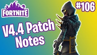 V4.4 Patch Notes | Mythic Cloaked Star Ninja, Obliterator Sniper Rifle | Fortnite #106