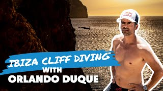 Orlando Duque Cliff Diving In One Of The Most Hard-To-Reach Places On Ibiza: The Cave Of Light