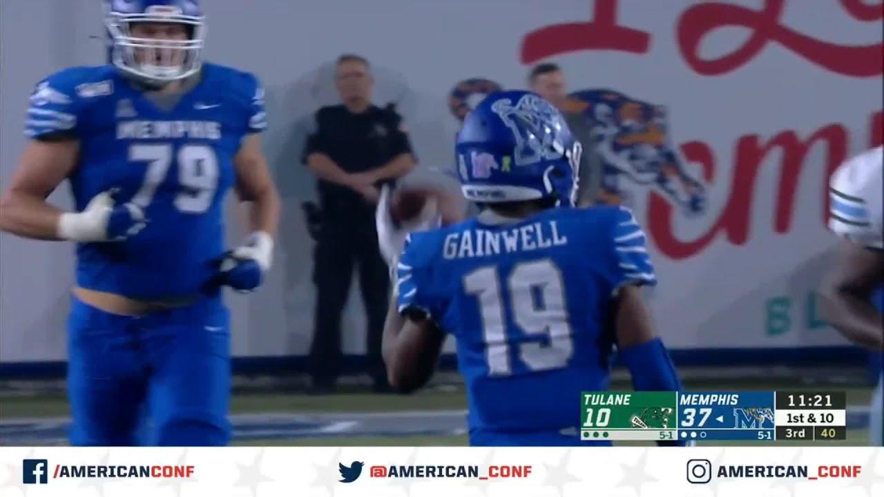 2019 Football Highlights Tulane At Memphis