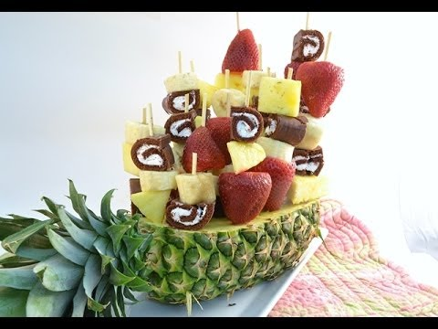 How to Make a Fruit Arrangement - Sweet Swirl Edible Fruit Bouquet | RadaCutlery.com