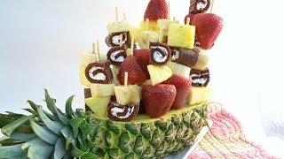 How to Make a Fruit Arrangement - Sweet Swirl Edible Fruit Bouquet | RadaCutlery.com